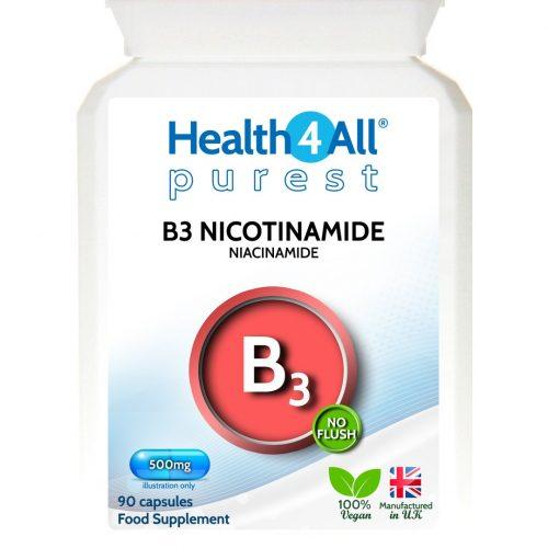 Vitamin B3 Nicotinamide niacinamide non-flush niacin capsules