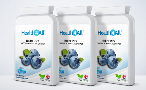 bilberry extract capsules eye health supplement