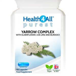 Yarrow complex capsules for joint stiffness