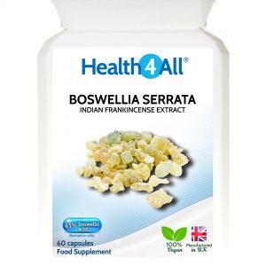 Boswellia Serrata Extract Indian Frankincense boswellic acid capsules - free UK delivery from Health4All online supplements store
