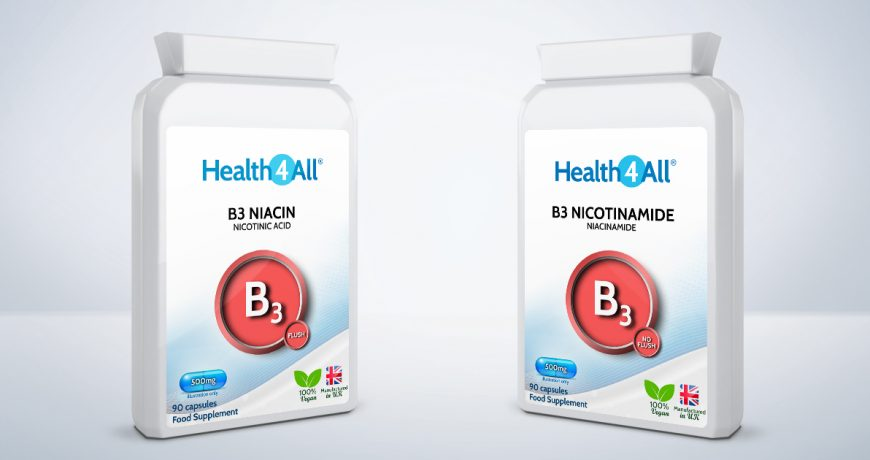 What is the difference between B3 Niacin and Nicotinamide