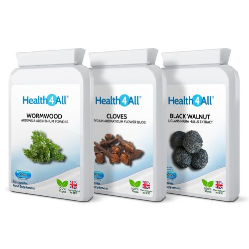 Parasite Detox Set: Black Walnut, Wormwood, Cloves capsules