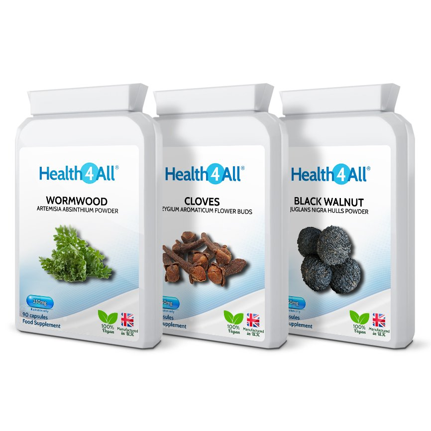 Parasite Detox Set, free UK delivery from UK's #1 Health Supplement Online Store Health4All
