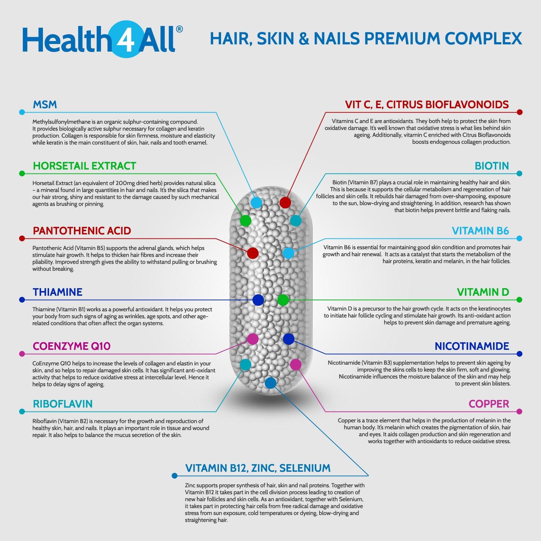 Health4All Hair Skin & Nails Premium Complex Capsules