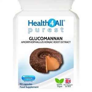 Glucomannan weight loss dietary fibre capsules