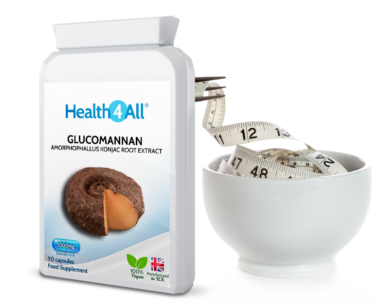Glucomannan dietary fiber weight loss
