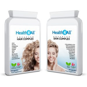 Advanced Hair and Skin Complex 30+30 Capsules free UK delivery from Health4All