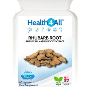 Rhubarb root natural laxative capsules