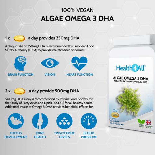 Vegan Omega 3 DHA from Algae Oil Benefits