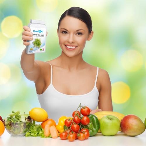 Vegan Omega 3 DHA from Algae Oil - Health4All UK Supplements Online Store