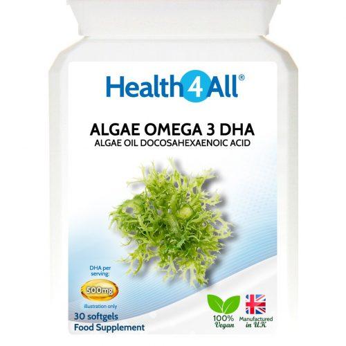 Vegan Algae Omega 3 DHA Oil Softgels